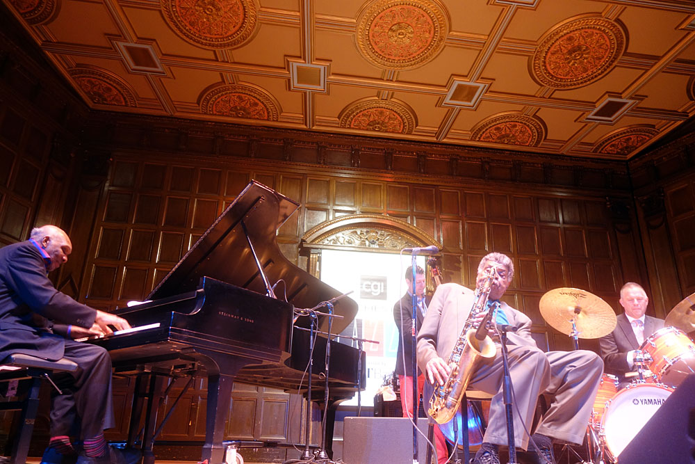 George Coleman Quartet performing at the 2019 Rochester International Jazz Festival