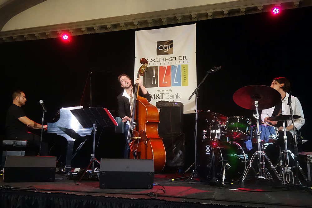 Spaga performing at the 2019 Rochester International Jazz Festival