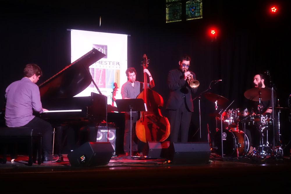 Itamar Borochov Quartet performing at the 2019 Rochester International Jazz Festival