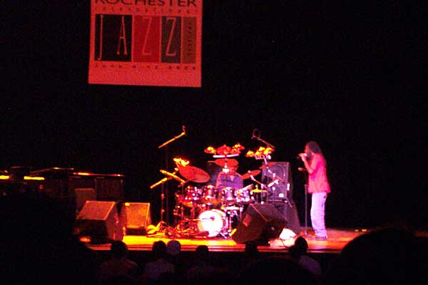 Bobbi McFerrin and Jack DeJohnette performing at the 2004 Rochester International Jazz Festival