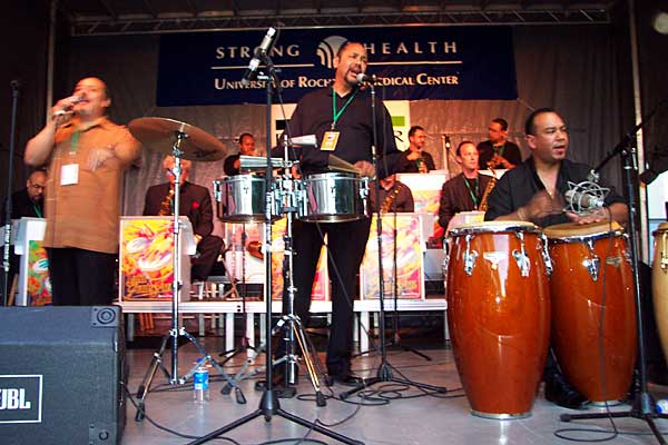 Latin Giants of Jazz performing at the 2004 Rochester International Jazz Festival