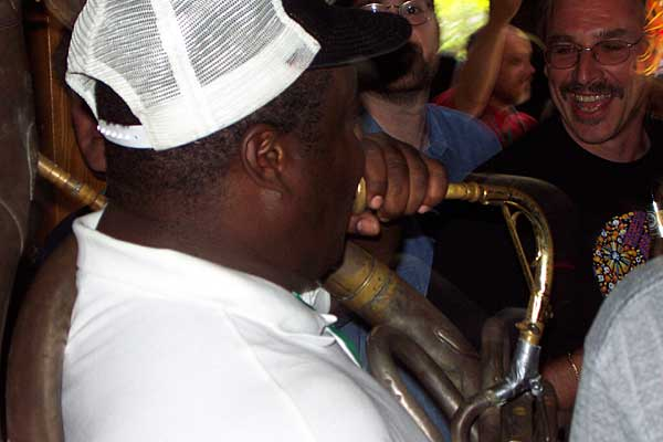 New Birth Brass Band performing at the 2004 Rochester International Jazz Festival
