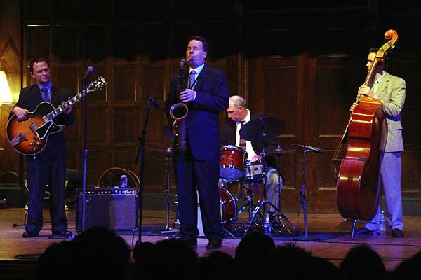 Harry Allen / Joe Cohn Quartet performing at the 2005 Rochester International Jazz Festival