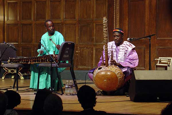 Mamadou Diabate performing at the 2005 Rochester International Jazz Festival