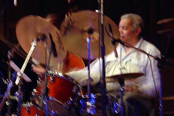 Pete La Roca performing at the 2005 Rochester International Jazz Festival