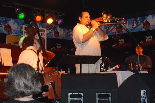 Steve Turre performing at the 2005 Rochester International Jazz Festival