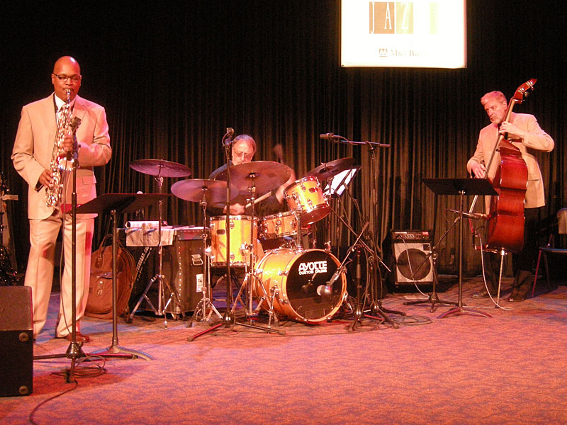 Terry Clarke Trio performing at the 2010 Rochester International Jazz Festival
