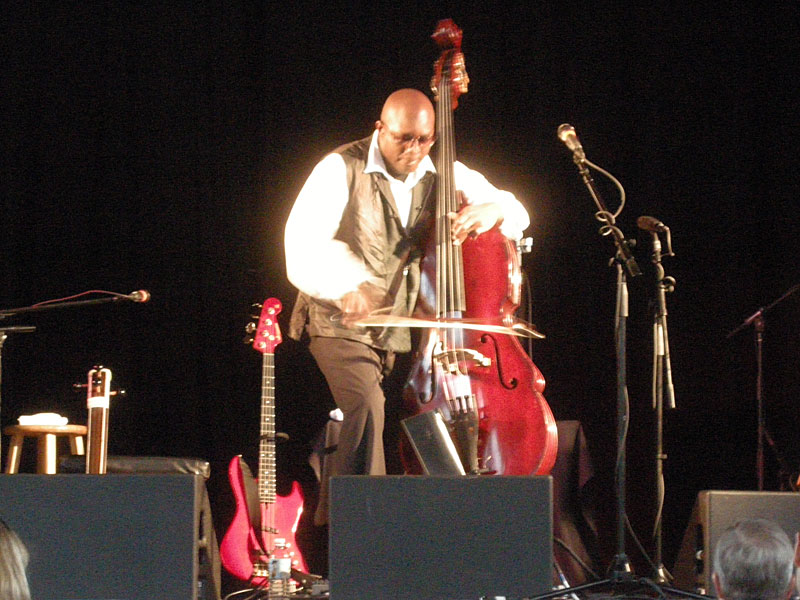 Charnett Moffett performing at the 2010 Rochester International Jazz Festival