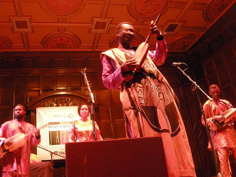 Bassekou Kouyate NgoniBa performing at the 2010 Rochester International Jazz Festival