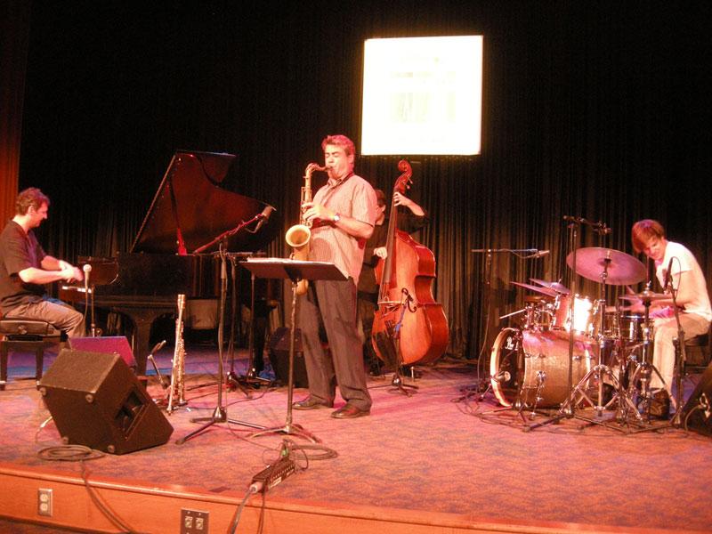 Francois Bourassa Quartet performing at the 2010 Rochester International Jazz Festival