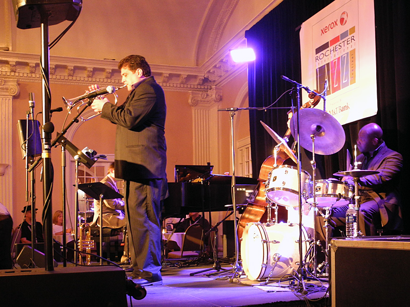 Joe Magnarelli and Antonio Ciacca Trio performing at the 2011 Rochester International Jazz Festival