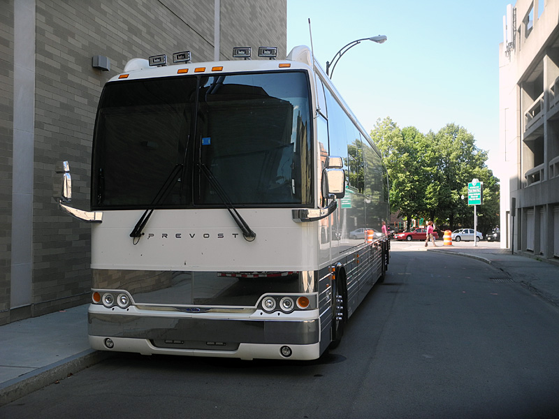 Diana Krall tour bus at the 2012 Rochester International Jazz Festival
