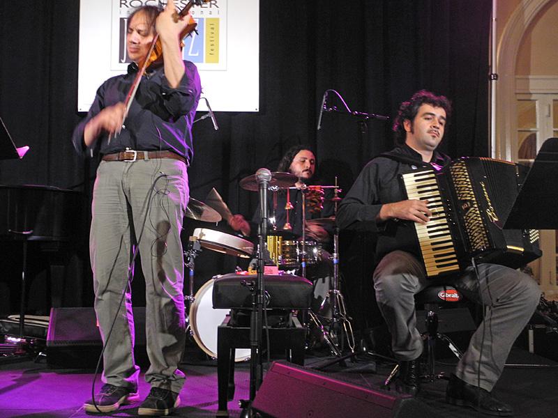 Luca Ciarla Quartet performing at the 2012 Rochester International Jazz Festival