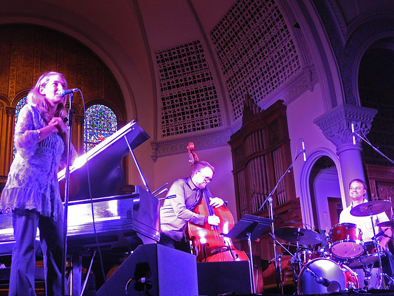 Sunna GunnlaugTrio performing at the 2012 Rochester International Jazz Festival