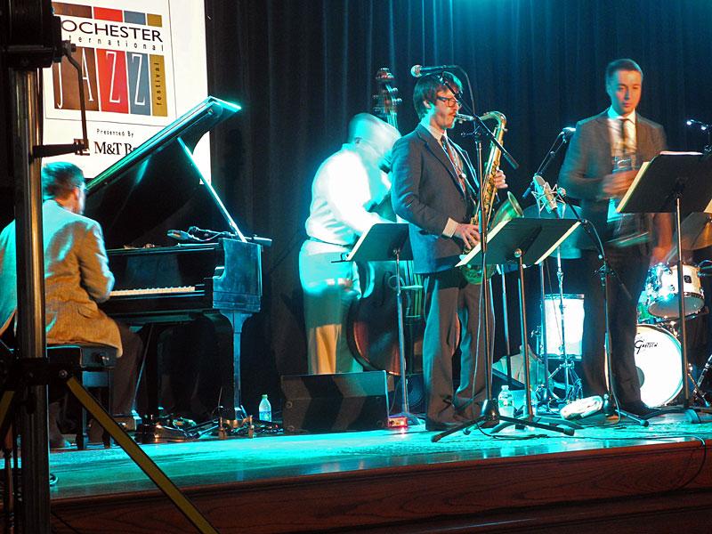 Osian Roberts Steve Fishwick Quintet performing at the 2012 Rochester International Jazz Festival