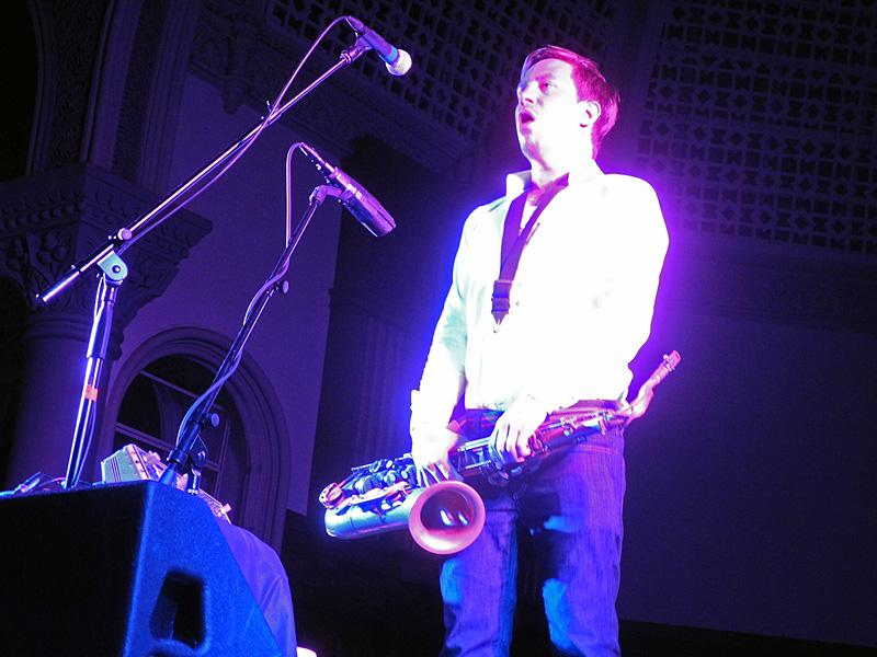Hakon Kornstad performing at the 2012 Rochester International Jazz Festival