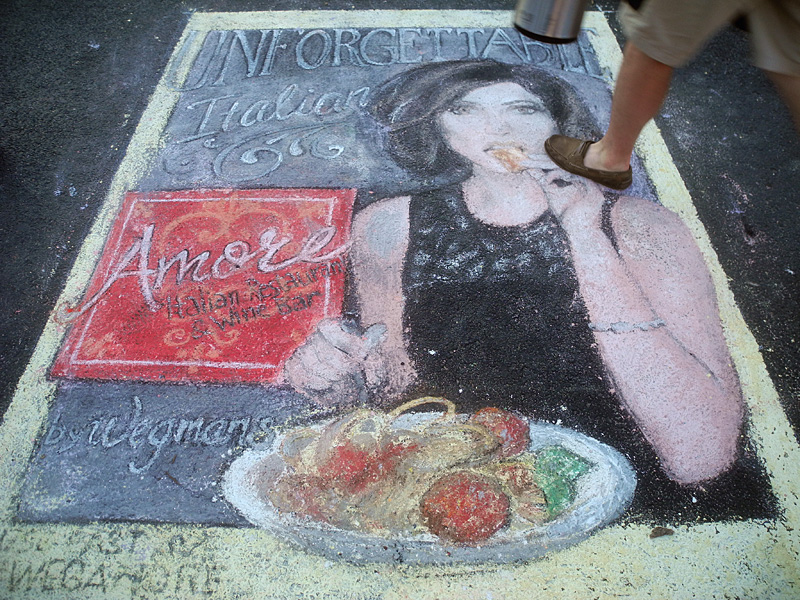 Amore Chalk Drawing at the 2013 Rochester International Jazz Festival
