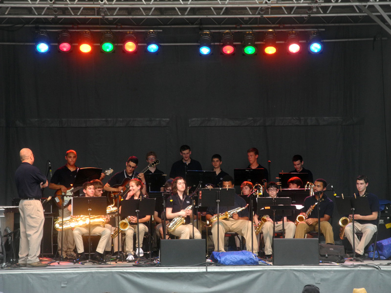 Brighton HS Jazz band performing at the 2013 Rochester International Jazz Festival