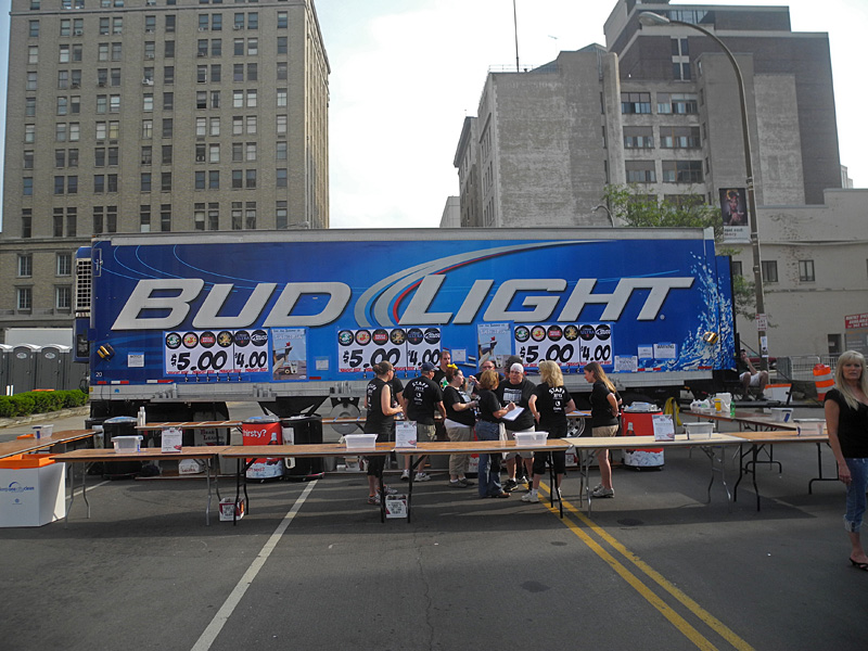 Bud Light Truck performing at the 2013 Rochester International Jazz Festival