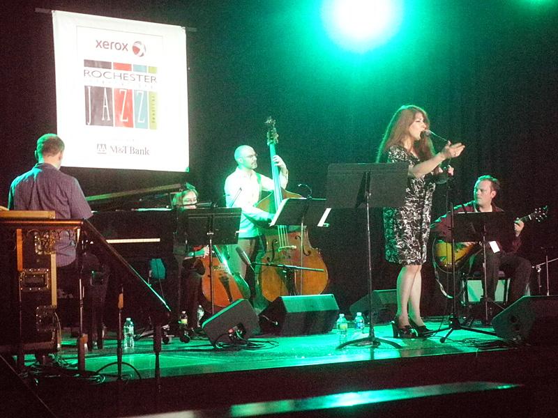 Christine Tobin performing at the 2013 Rochester International Jazz Festival