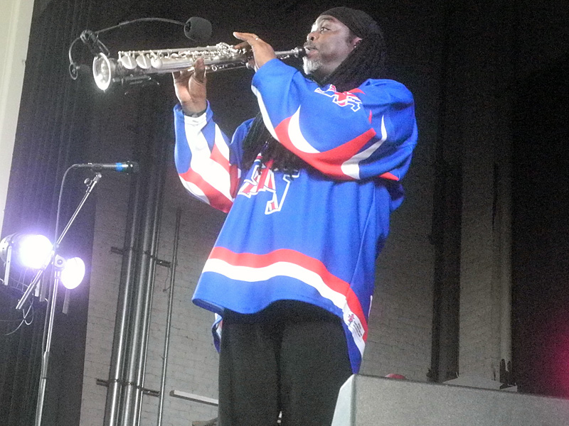 Courtney Pine performing at the 2013 Rochester International Jazz Festival