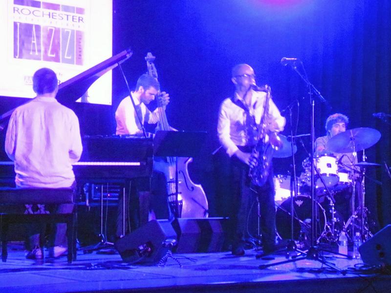 Julian Arguelles Quartet performing at the 2013 Rochester International Jazz Festival