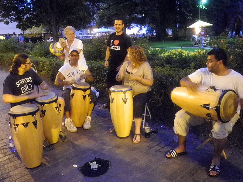 Barcelona Group on street performing at the 2013 Rochester International Jazz Festival