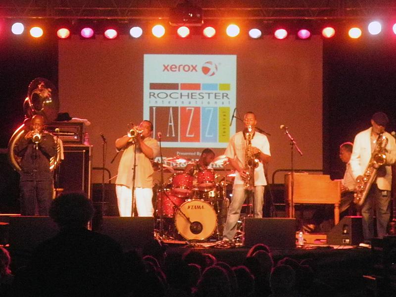 Dirty Dozen Brass performing at the 2013 Rochester International Jazz Festival