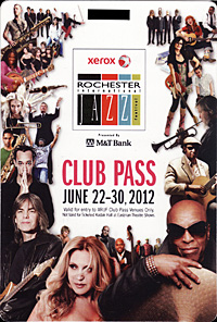Rochester International Jazz Festival pass 2012