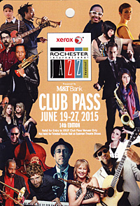 Rochester International Jazz Festival pass 2015