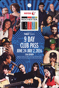 Rochester International Jazz Festival pass 2016