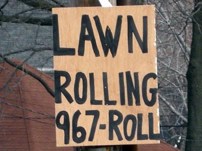 Lawn Rolling 967-ROLL