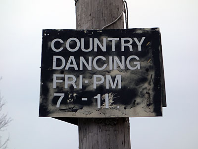 Country Dancing sign