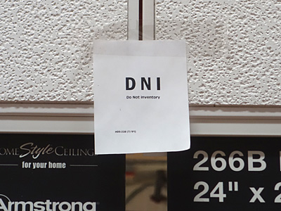 DNI Do Not Inventory sign