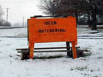 Deer Butcher sign