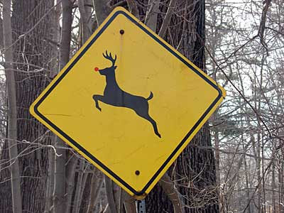 Deer Crossing sign