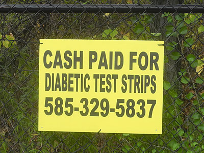 Diabetic Strips sign
