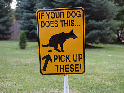 Dog Shit Sign