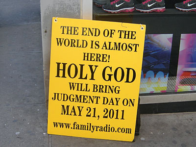 End Of The World Sign