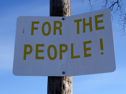 For The People sign