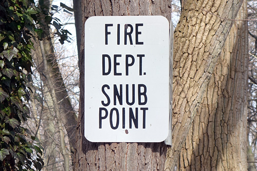 Fire Department Snub Point sign