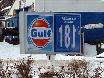 Gulf Gas sign