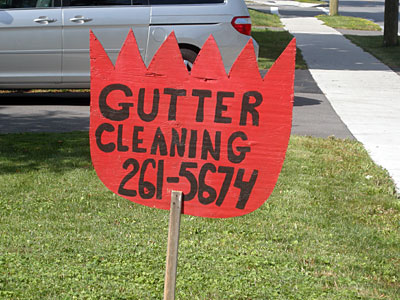 Gutter Cleaning Sign