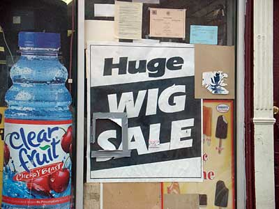 Huge Wig Sale sign