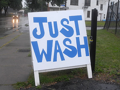 Just Wash Sign