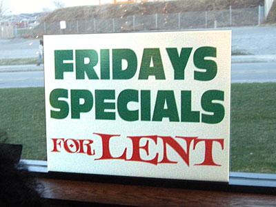 Lenten Special Sign