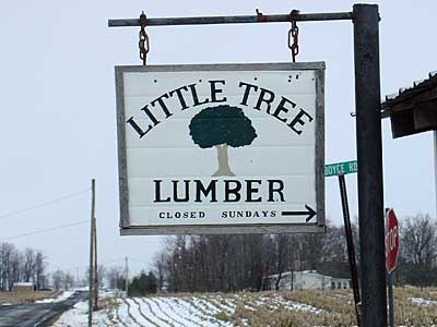 Little Tree sign