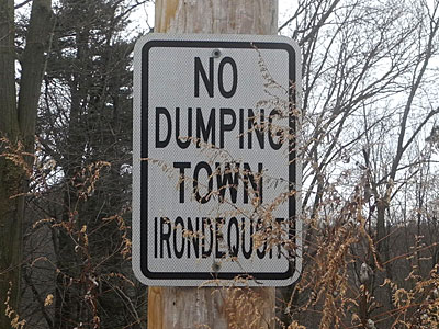 No Dumping Town Irondequoit
