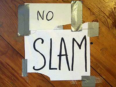 No Slam sign