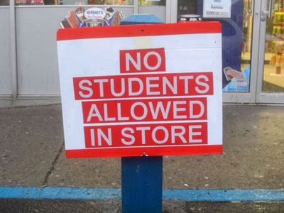 No Students Sign